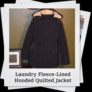 EUC | Laundry Fleece-Lined Hooded Quilted Jacket